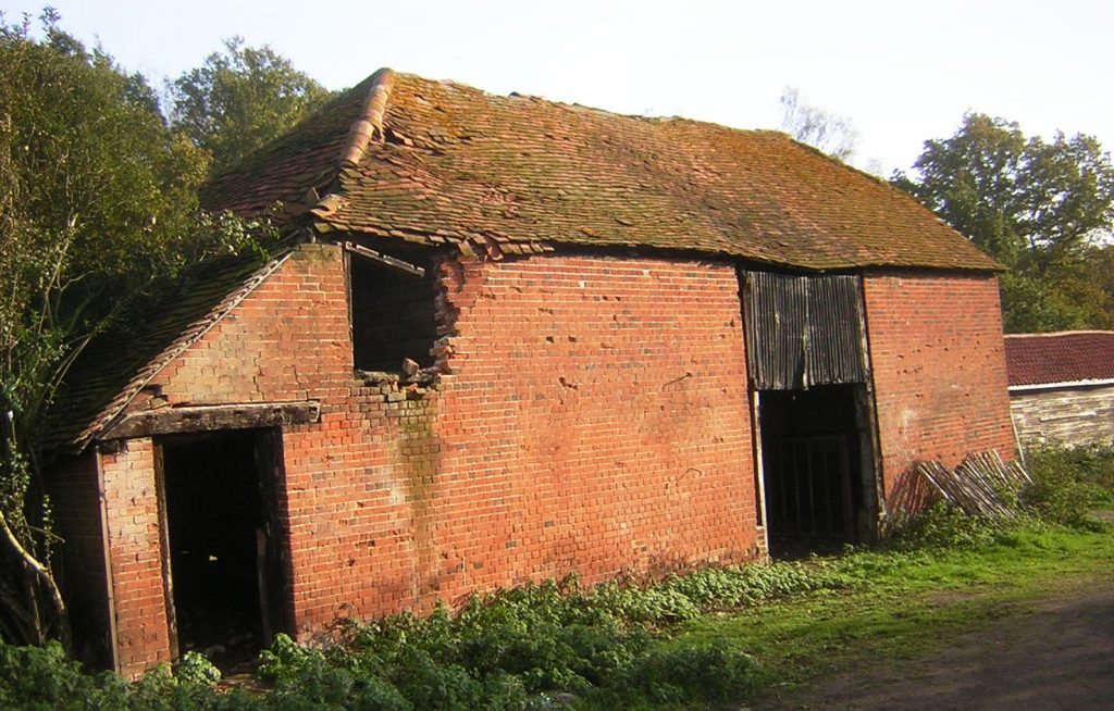 Dilapidated barn, pre-renovation works